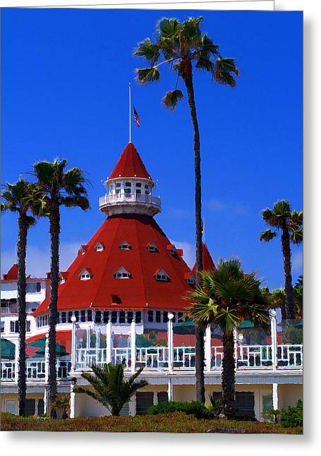 Famous Hotel Greeting Cards - Hotel Del Greeting Card by Ron Regalado