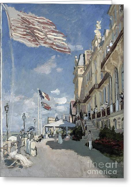 Vintage Painter Greeting Cards - Hotel des roches noires - Trouville Greeting Card by Claude Monet