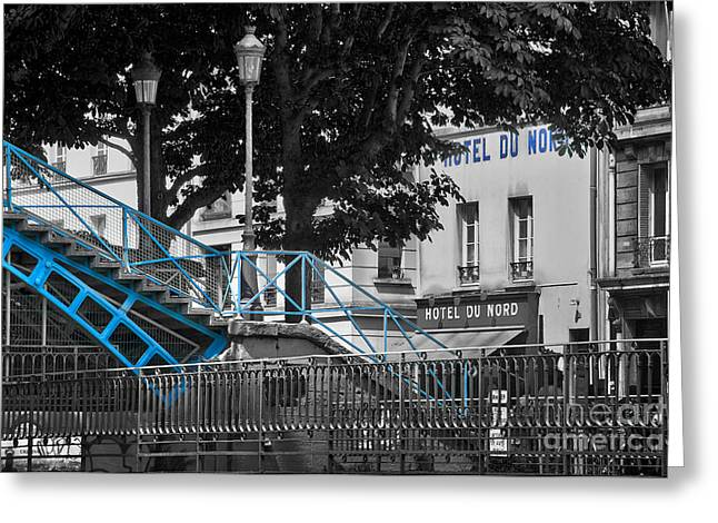 Hotel Du Nord Greeting Card by Delphimages Photo Creations