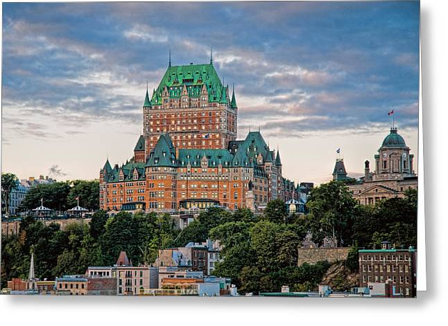 Recently Sold -  - Chateau Greeting Cards - Fairmont Le Chateau Frontenac  Greeting Card by Ginger Wakem