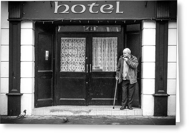 Streetphotography Greeting Cards - Hotel Greeting Card by Giuseppe Milo