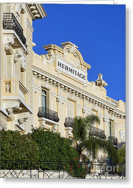 The Hermitage Greeting Cards - Hotel Hermitage Monte-Carlo Greeting Card by John Greim