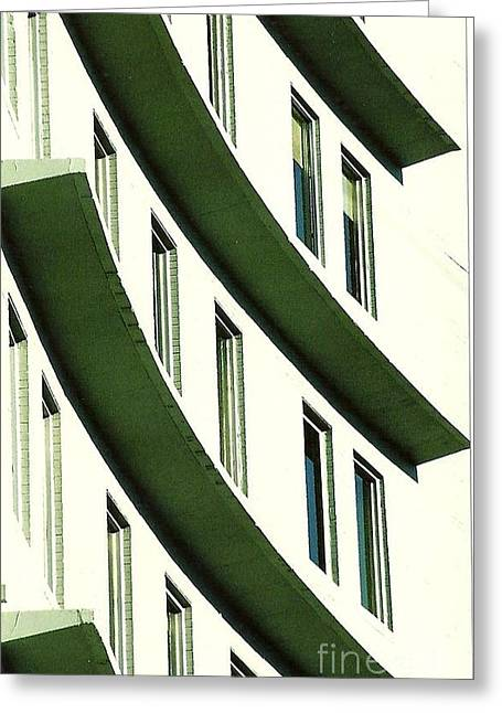 St Charles Avenue Greeting Cards - Hotel Ledges Of A New Orleans Louisiana Hotel Greeting Card by Michael Hoard