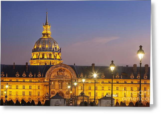 Invalides Greeting Cards - Hotel les Invalides Greeting Card by Brian Jannsen