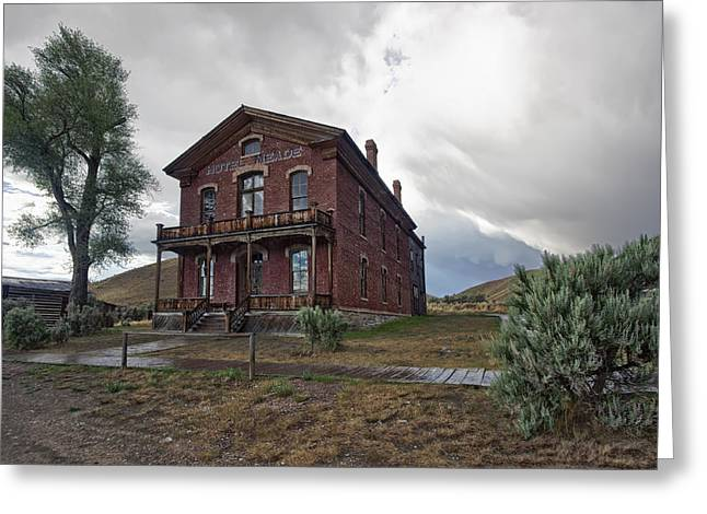 Dunn Greeting Cards - Hotel Meade - Bannack Ghost Town - Montana Greeting Card by Daniel Hagerman
