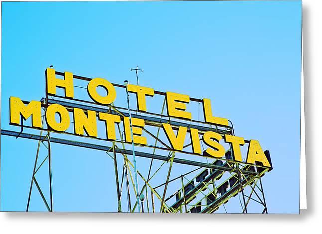 Monte Vista Greeting Cards - Hotel Monte Vista Greeting Card by Gigi Ebert