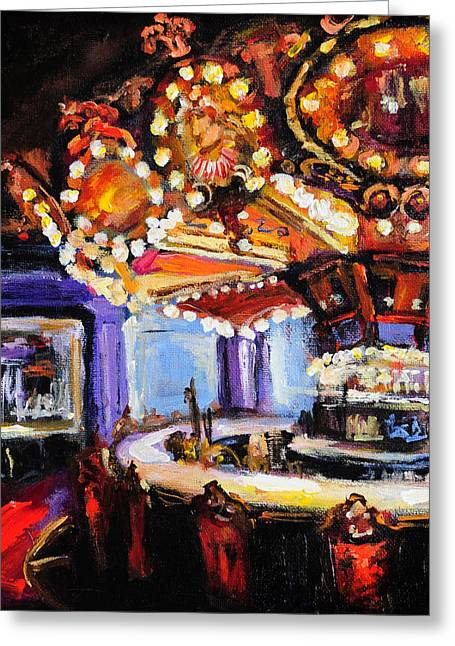 Hotel Monteleone Bar Greeting Card by Carole Foret
