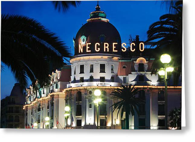 Hotel Negresco Greeting Card by Inge Johnsson