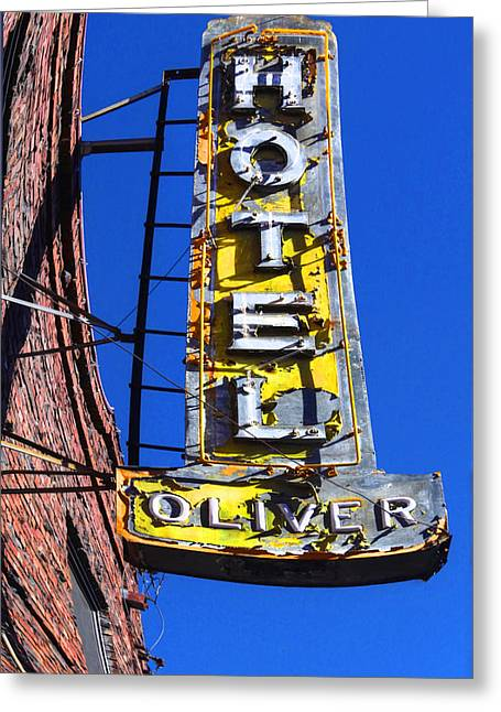 Historical Pictures Greeting Cards - Hotel Oliver Greeting Card by Kandy Hurley