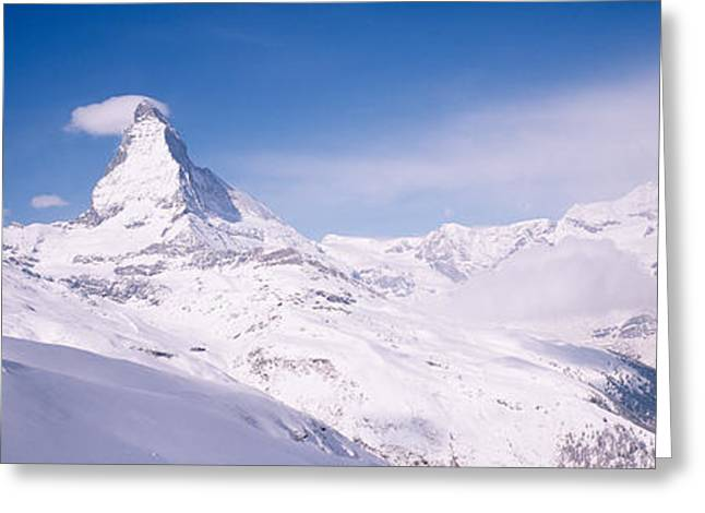 Swiss Culture Greeting Cards - Hotel On A Polar Landscape, Matterhorn Greeting Card by Panoramic Images
