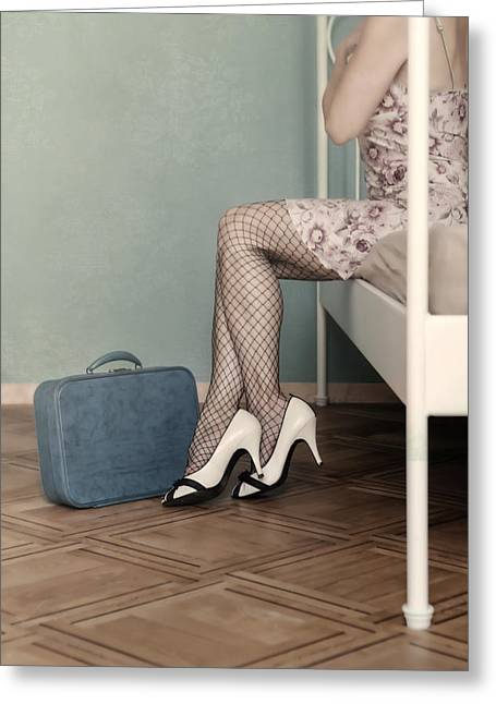 Panty Hose Greeting Cards - Hotel Room Greeting Card by Joana Kruse