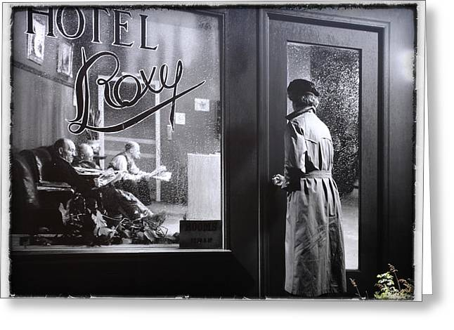 Jim Nelson Greeting Cards - Hotel Roxy Greeting Card by Jim Nelson