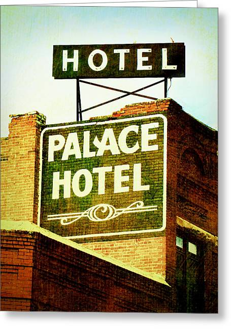 Vintage Style Photograph Greeting Cards - Hotel Sign Greeting Card by Ann Powell