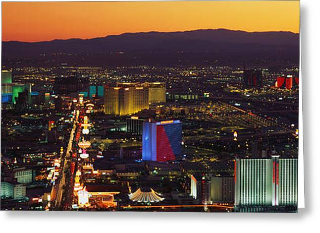 On Location Greeting Cards - Hotels Las Vegas Nv Greeting Card by Panoramic Images