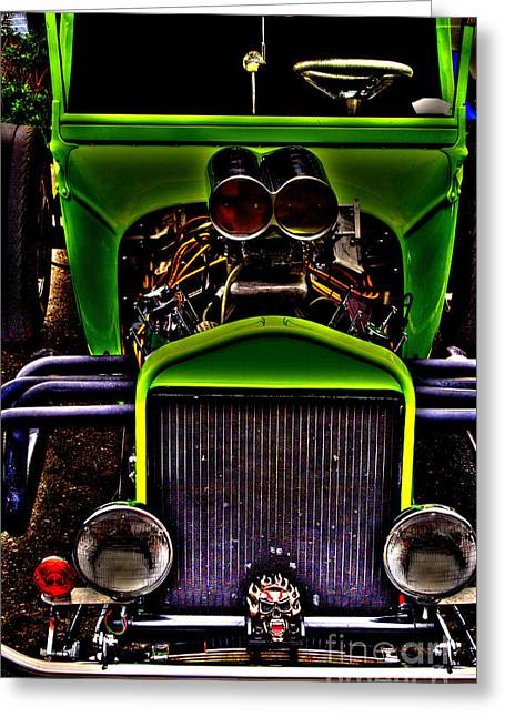 Whee Greeting Cards - Hotrod Ford Greeting Card by Steven Parker