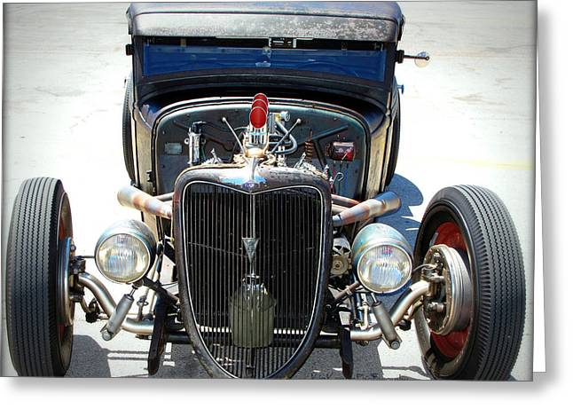 HotRod Thunder Greeting Card by Kip Krause