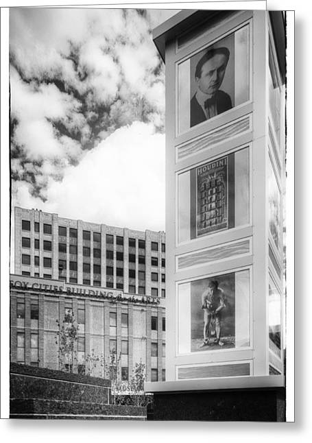 Appleton Art Greeting Cards - Houdini Plaza Greeting Card by Thomas Young