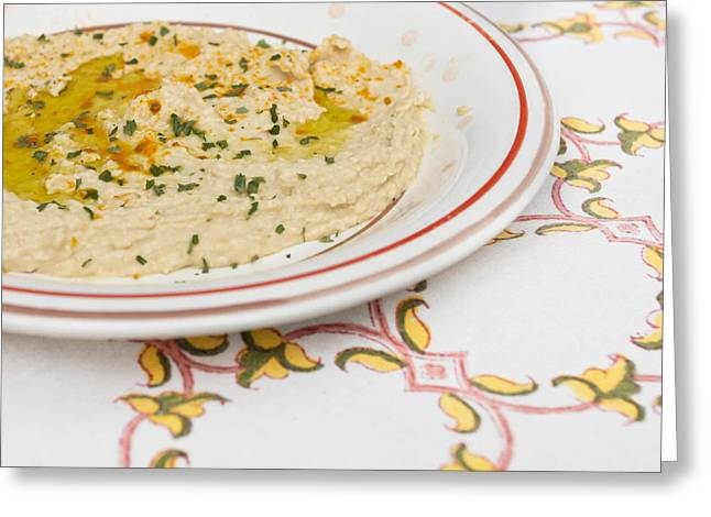 Edible Greeting Cards - Houmous Greeting Card by Tom Gowanlock