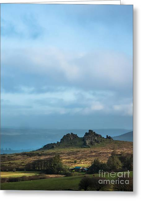 Hound Tor On Dartmoor  Greeting Card by Jan Bickerton
