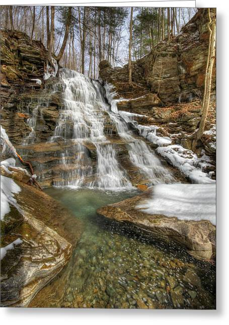 Loggers Greeting Cards - Hounds Run Falls Greeting Card by Lori Deiter
