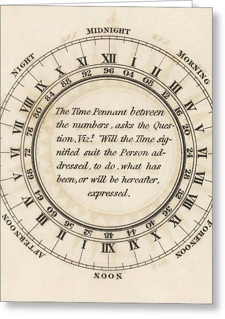 Hour Circle For Flag Telegraphy Greeting Card by King's College London