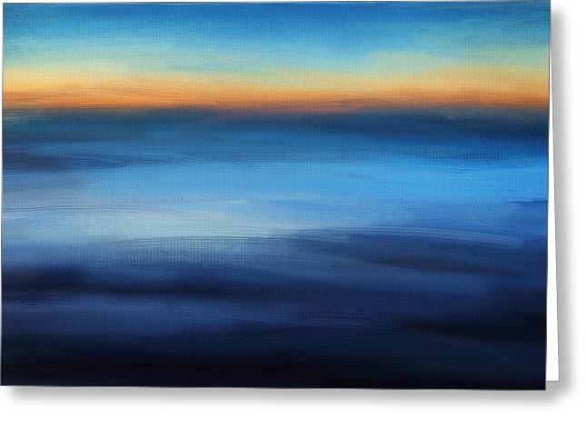 Abstract Seascape Art Greeting Cards - Hour Of Dreams Greeting Card by Lourry Legarde