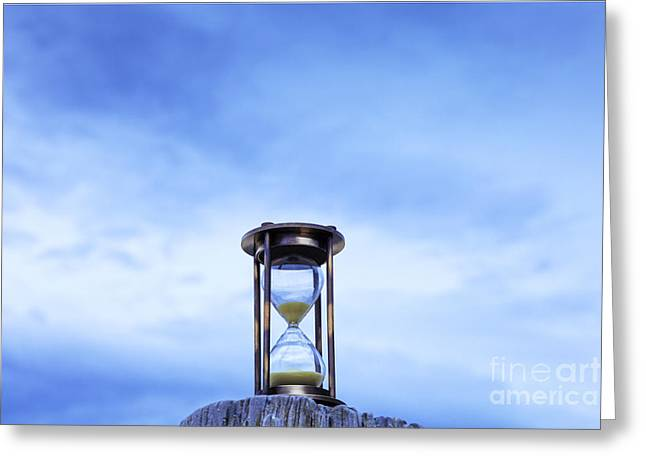 Hourglass Blue Sky Greeting Card by Colin and Linda McKie