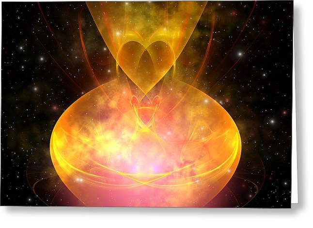 Portal Digital Greeting Cards - Hourglass Nebula Greeting Card by Corey Ford