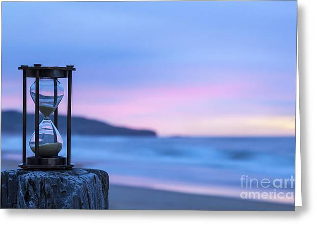 Timer Greeting Cards - Hourglass Twilight Sky Greeting Card by Colin and Linda McKie