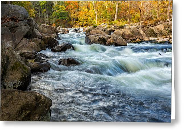 Housatonic River Greeting Cards - Housatonic River Autumn Greeting Card by Bill  Wakeley