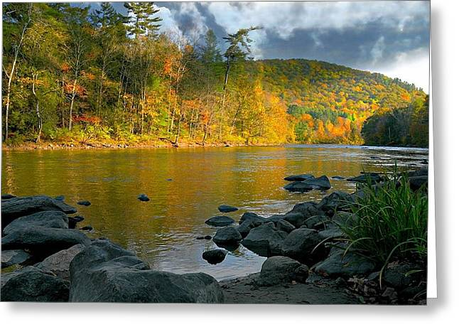 Connecticut River Greeting Cards - Housatonic River Greeting Card by Diana Angstadt