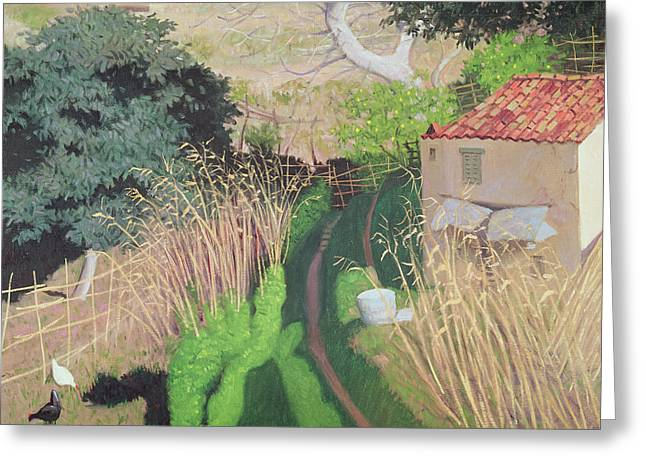 House And Reeds Greeting Card by Felix Edouard Vallotton