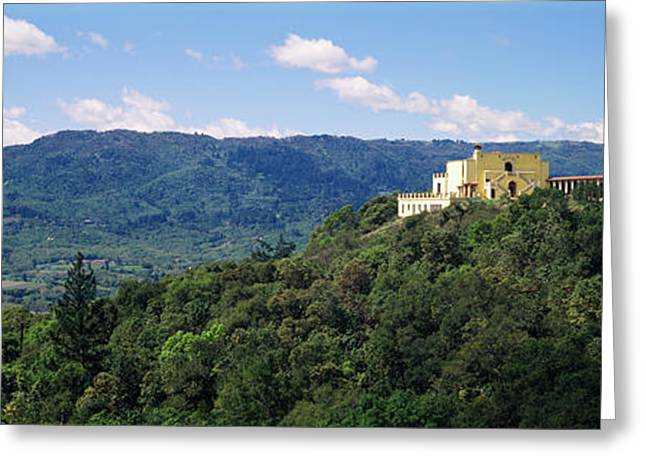 House At The Hilltop, Napa Valley Greeting Card by Panoramic Images