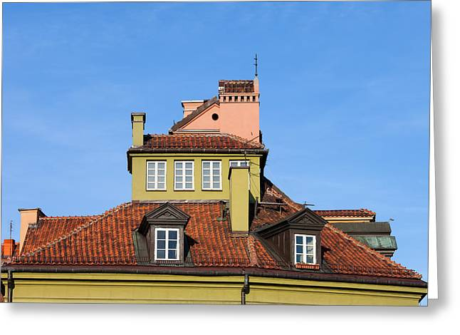 Residential Structure Greeting Cards - House Attic Greeting Card by Artur Bogacki
