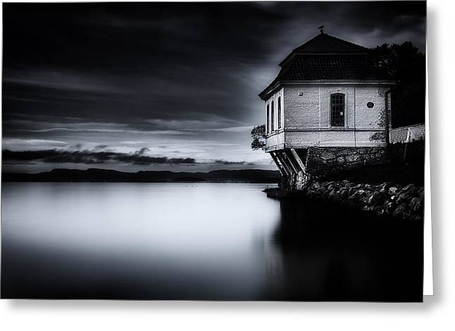 Waiting Photographs Greeting Cards - House By The Sea Greeting Card by Erik Brede