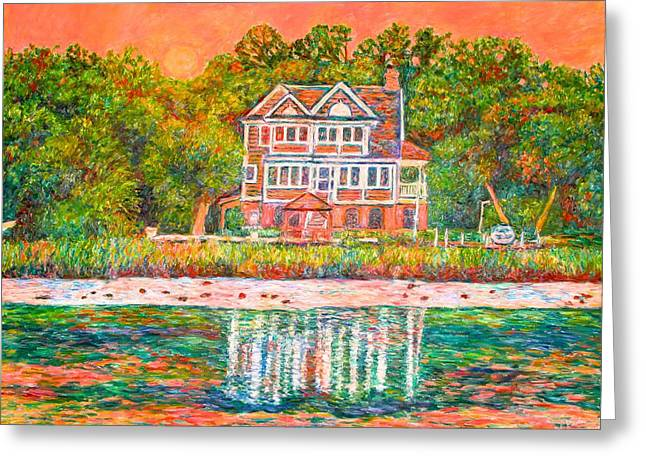 House By The Tidal Creek At Pawleys Island Greeting Card by Kendall Kessler