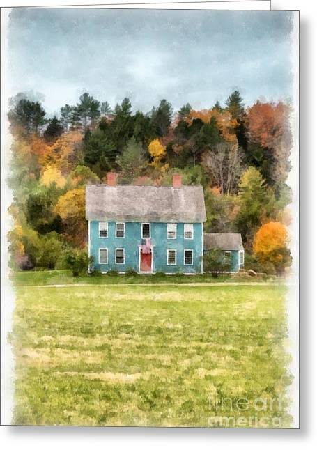 Fall Foliage Photographs Greeting Cards - House by the woods Greeting Card by Edward Fielding