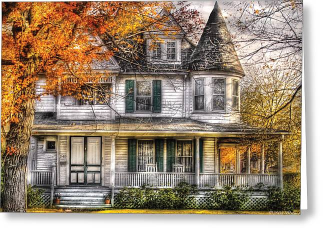 House - Classic Victorian Greeting Card by Mike Savad