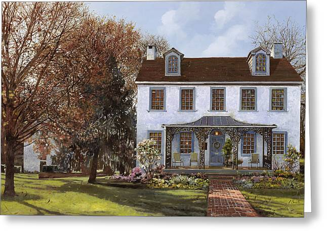 house Du Portail  Greeting Card by Guido Borelli