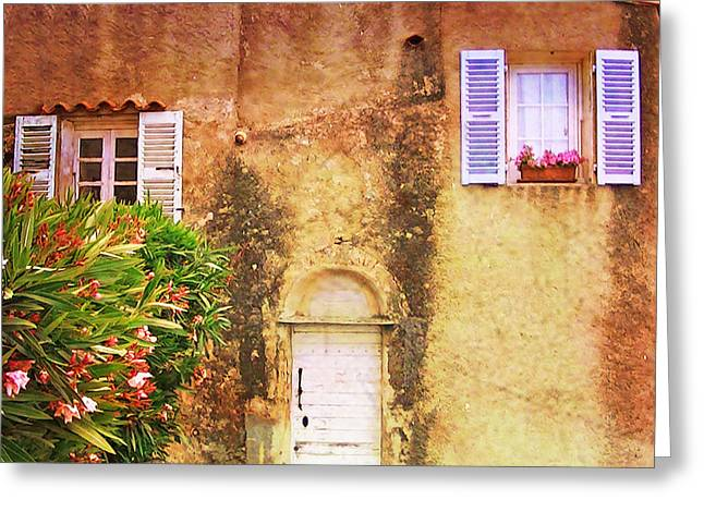 Stone House Greeting Cards - 	House in Corsica				 Greeting Card by Catherine Arnas