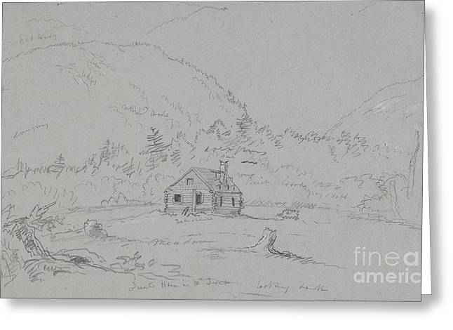 Shack Greeting Cards - House in Mount Desert Greeting Card by  Thomas Cole