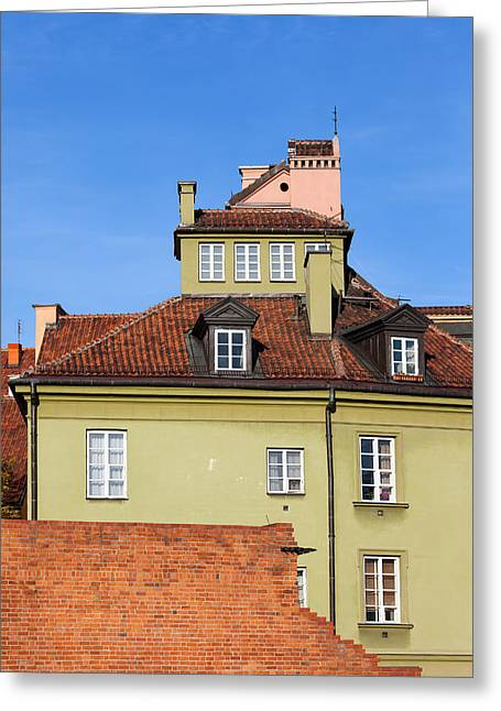 Polish Old Town Greeting Cards - House in the Old Town of Warsaw Greeting Card by Artur Bogacki