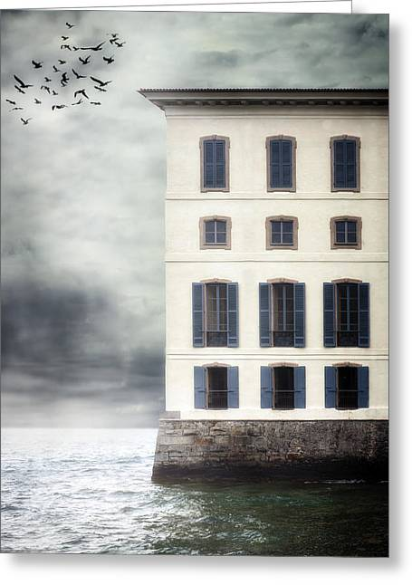 Abandoned Houses Greeting Cards - House In The Sea Greeting Card by Joana Kruse