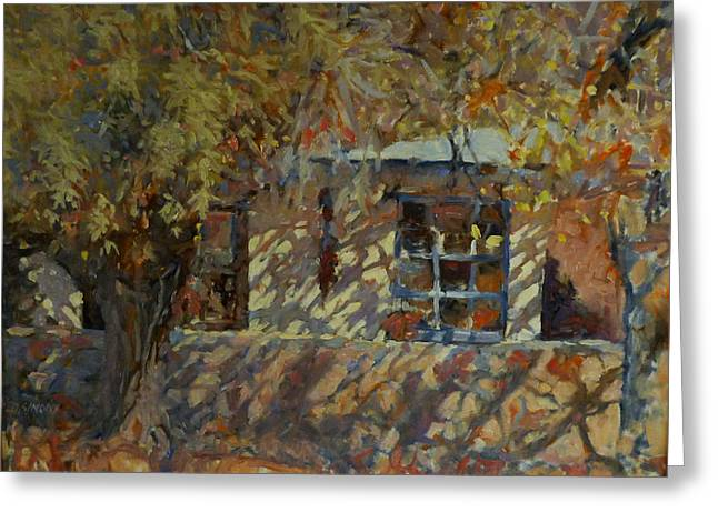Dappled Light Greeting Cards - House in Tumacocori Greeting Card by David Simons