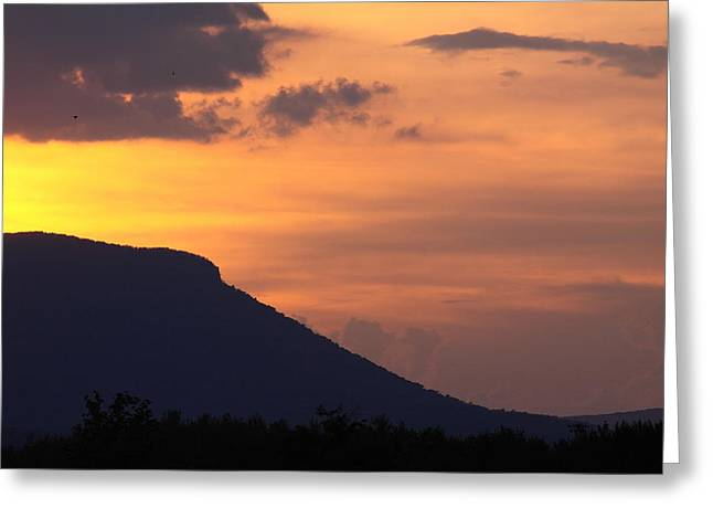Vmi Greeting Cards - House Mountain Sunset Greeting Card by Geoffrey Archer
