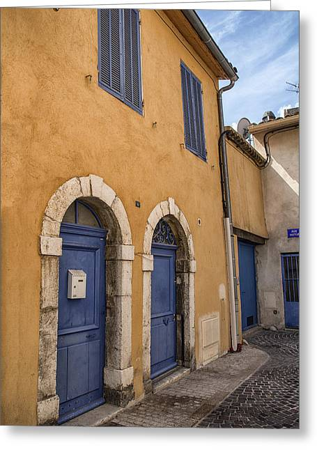 France Doors Greeting Cards - South of France Colors Greeting Card by Nomad Art And  Design