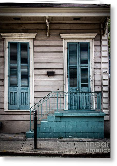 Historical Pictures Greeting Cards - House of Blue Doors Greeting Card by Perry Webster