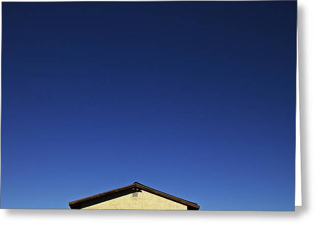 Houses Photos Greeting Cards - House of Blue  Greeting Card by Mark M  Mellon