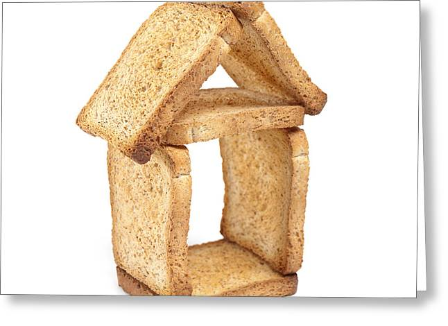 Residential Structure Greeting Cards - House of bread Greeting Card by Sinisa Botas