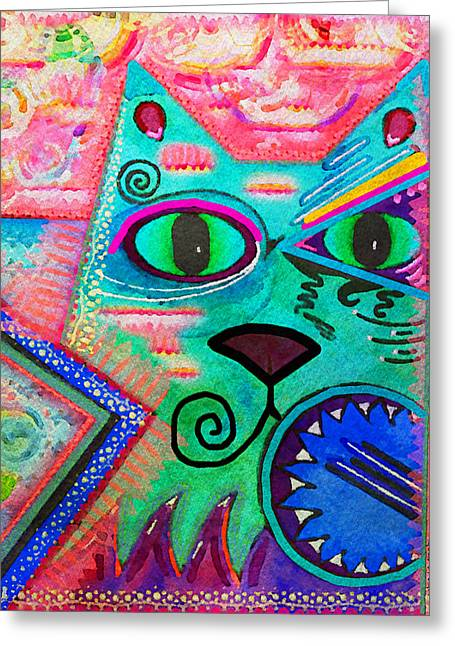 Feline Fantasy Greeting Cards - House of Cats series - Spike Greeting Card by Moon Stumpp